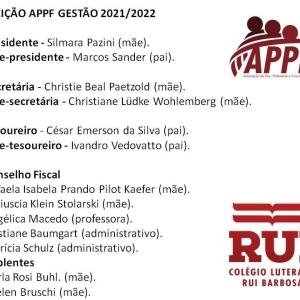 Diretoria da APPF Gestão 2021